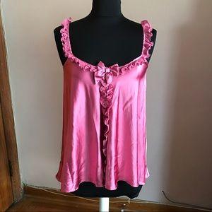 Myla London silk rose ruffled camisole